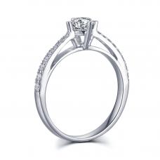 Erichio Diamond Engagement Ring Casing 18K White Gold