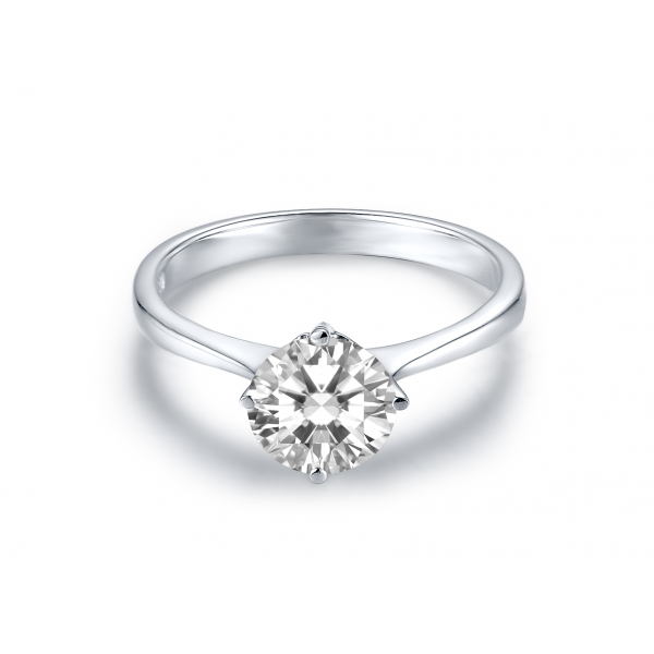 Lozef Solitaire Engagement Ring Casing 18K White Gold
