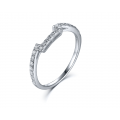 Tassen Diamond Engagement Ring Casing 18K White Gold (2 in 1)