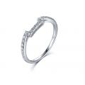 Tassen Diamond Engagement Ring Casing 18K White Gold (2 in 1)