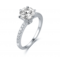 Pondio Diamond Engagement Ring Casing 18K White Gold