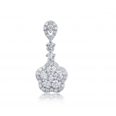 Dulcia Prong Diamond Earring 18K White Gold