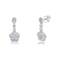 Dulcia Prong Diamond Earring 18K White Gold