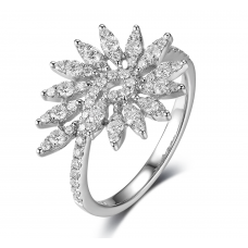 Reagan Prong Diamond Ring 18K White Gold