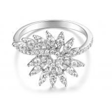 Reagan Prong Diamond Ring 18K White Gold