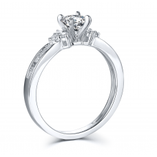 Simply Us Diamond Engagement Ring Casing 18K White Gold (2 in 1)