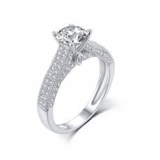 Rykiel Diamond Engagement Ring Casing 18K White Gold