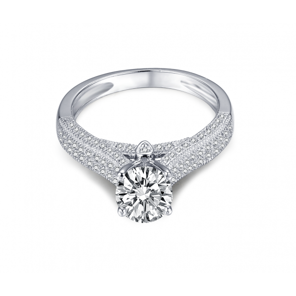 Rykiel Diamond Engagement Ring Casing 18K White Gold