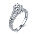 Ports Diamond Engagement Ring Casing 18K White Gold