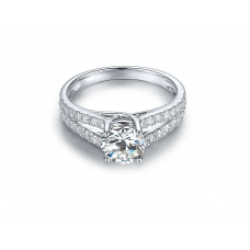 Ports Diamond Engagement Ring Casing 18K White Gold