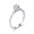 Yens Diamond Engagement Ring Casing 18K White Gold