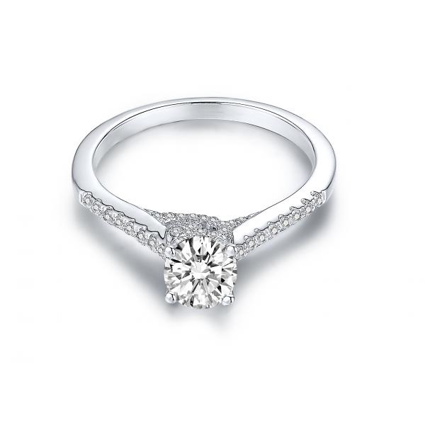 Yens Diamond Engagement Ring Casing 18K White Gold