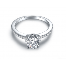 Kylan Diamond Engagement Ring Casing 18K White Gold