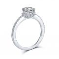 Kylan Diamond Engagement Ring Casing 18K White Gold