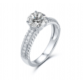 Jay'ne Diamond Engagement Ring Casing 18K White Gold