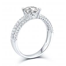 Jay'ne Diamond Engagement Ring Casing 18K White Gold