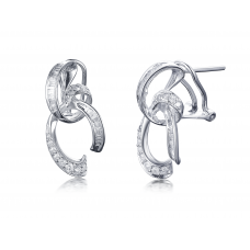 Flynn Prong Diamond Earring 18K White Gold