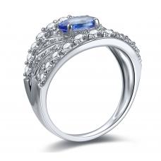 Creek Tanzanite Diamond Ring 18K White Gold
