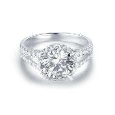 Griya Diamond Engagement Ring Casing 18K White Gold