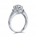 Griya Diamond Engagement Ring Casing 18K White Gold