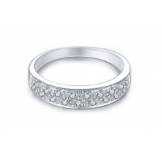 Tahoe Prong Diamond Ring 18K White Gold