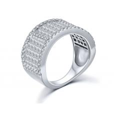 Tex Prong Diamond Ring 18K White Gold