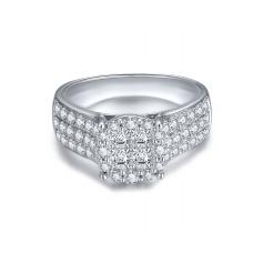 Aegir Princess Diamond Ring 18K White Gold