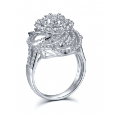 Aleena Prong Diamond Ring 18K White Gold