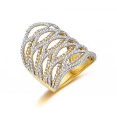 Bahari Prong Diamond Ring 18K Yellow Gold