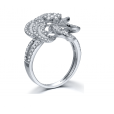 Drake Prong Diamond Ring 18K White Gold