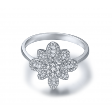 Bellus Prong Diamond Ring 18K White Gold