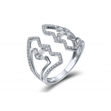Makara Prong Diamond Ring 18K White Gold