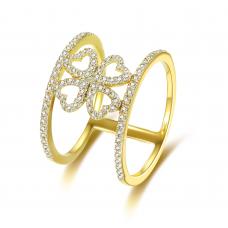 Wynonna Prong Diamond Ring 18K Yellow Gold