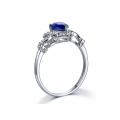 Davit Kyanite Diamond Ring 18K White Gold