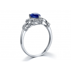 Davit Kyanite Diamond Ring 18K White Gold