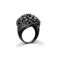 Cordella Prong Diamond Ring 18K Black Gold
