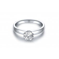 Piz Diamond Engagement Ring Casing 18K White Gold (2 in 1)