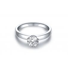 Piz Diamond Engagement Ring Casing 18K White Gold (2 in 1)