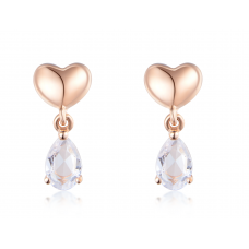 Do Yun White Sapphire Earring 14K Rose Gold