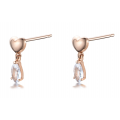 Do Yun White Sapphire Earring 14K Rose Gold