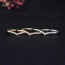 Yvette Diamond Wedding Ring 18K White Gold