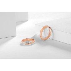 Torin Diamond Wedding Ring 18K White and Rose Gold(Pair)