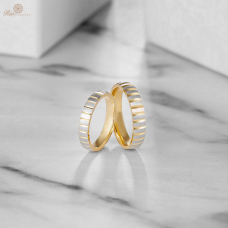 Bianca Diamond Wedding Ring 18K White & Yellow Gold (Pair)