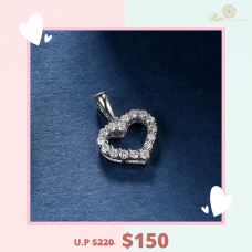 Luvs Diamond Pendant 18K White Gold