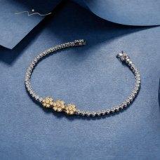 Blissen Diamond Bracelet 18K White & Yellow Gold