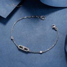 Ellure Diamond Bracelet 18K White Gold