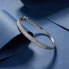 Caremilla  Diamond Bangle 18K White Gold