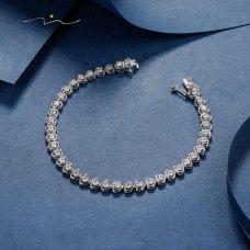 Brion Diamond Bracelet 18K White Gold