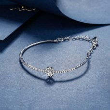 Kelin Diamond Bangle 18K White Gold