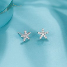 Geoma Diamond Earring 18K White Gold